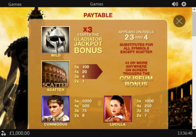 Gladiator Jackpot screenshot