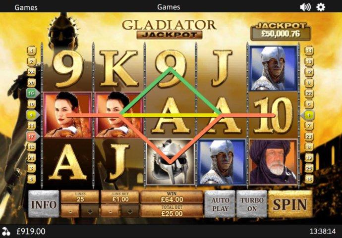 Images of Gladiator Jackpot