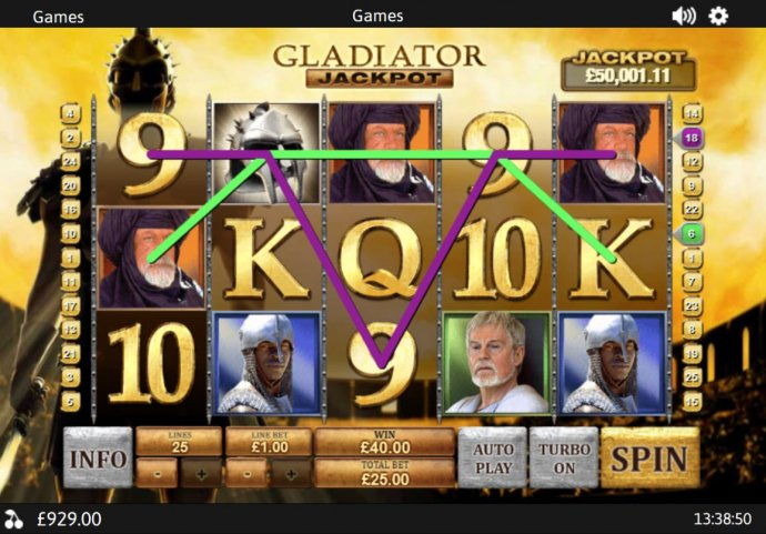 No Deposit Casino Guide image of Gladiator Jackpot