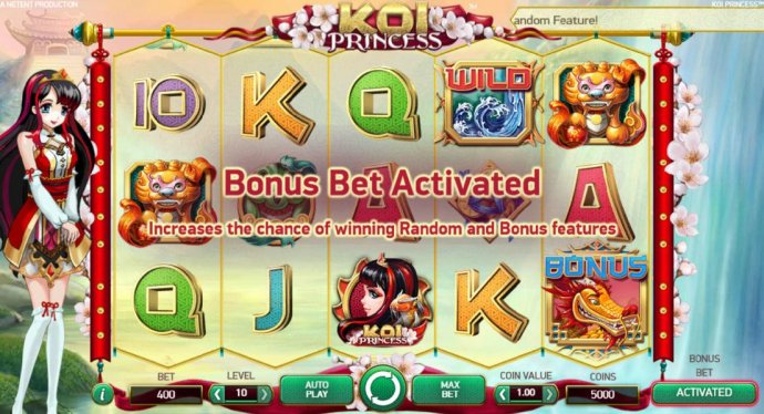 No Deposit Casino Guide - Activating the Bonus Bet increases the chance of winning Random and Bonus Features