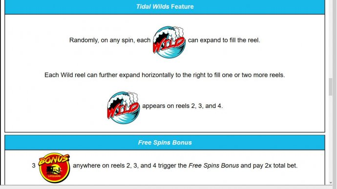 No Deposit Casino Guide - Tidal Wilds Feature