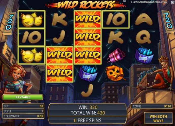 No Deposit Casino Guide - 330 coin jackpot triggered once again by expanding wilds, only this time during the free spins feature