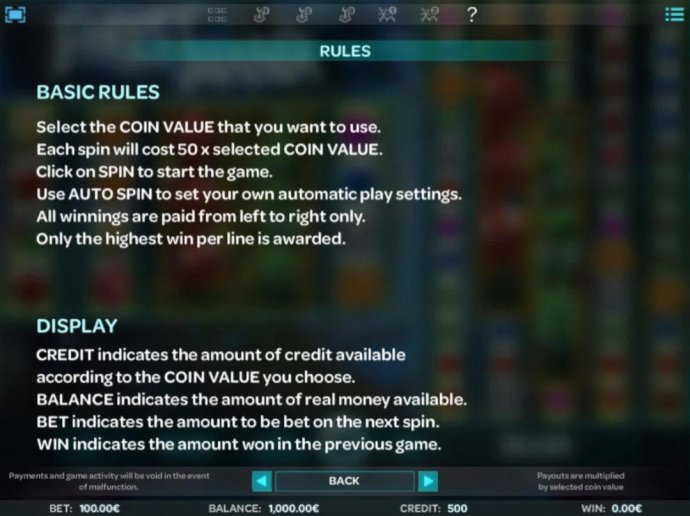 No Deposit Casino Guide - General Game Rules