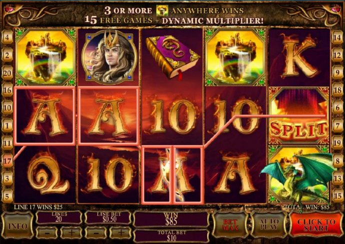 dragon split feature triggers a $85 jackpot by No Deposit Casino Guide