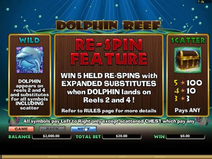 No Deposit Casino Guide image of Dolphin Reef
