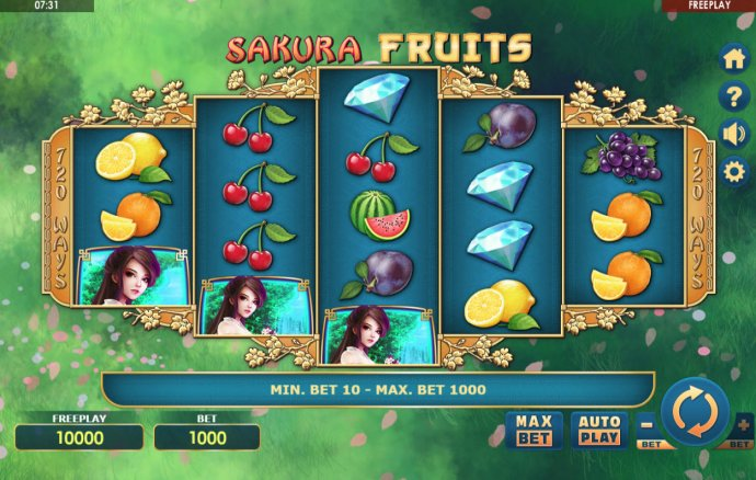 No Deposit Casino Guide image of Sakura Fruits